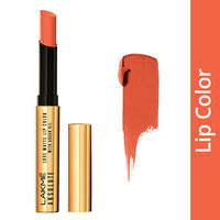 Lakme Absolute Luxe Matte Lip Color With Argan Oil - Peachy Carnation