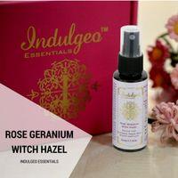 Indulgeo Essentials Rose Geranium Witch Hazel Facial Mist/Toner