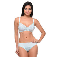 Bodycare Bridal Bra & Panty Set In Nylon Elastane - Green