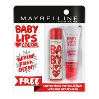 Buy 1 Maybelline New York Baby Lips Color Candy Rush Lip Balm - Watermelon Pop & Get 1 Winter Flush Lip Balm Free
