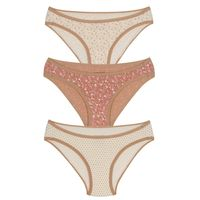 Amante Three Piece Bikini Panty Pack With Thin Elastic Waist Band 1