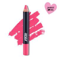 Nykaa Pout Perfect Lip & Cheek Creamy Matte Crayon Lipstick - Crushing On Pink 03