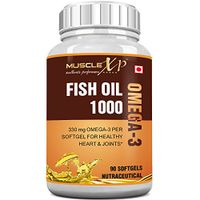 MuscleXP Fish Oil 1000 Omega 3 - 330mg (90 Softgels)