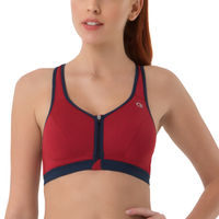 Amante Red Padded Non-Wired Sports Bra