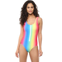 Blush Zip-Up Monokini - Rainbow