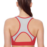 Enamor SB08 Medium Impact Sports Bra - Racer Back, Removable Pads & Wirefree - Red