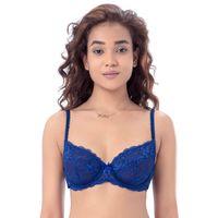 PrettySecrets Sexy Lace Unlined Bra - Blue