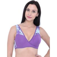 Inner Sense Organic Cotton Blended Feeding Women's Nursing Bra - Purple
