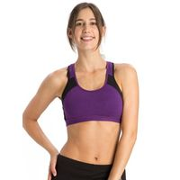 Jockey Purple Glory & Black Power Back Padded Active Bra