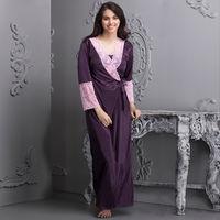 Clovia 7 Pc Satin Nightwear Set - Purple (Onesize)
