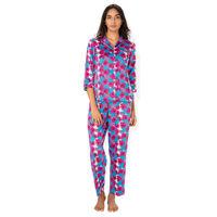 PrettySecrets Orchid Floral Satin Top & Pajama Set