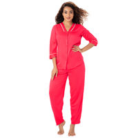 PrettySecrets Satin Top & PJ Set - Coral