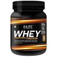 INLIFE Whey Protein Powder Body Building Supplement Coffee Flavour 454gm