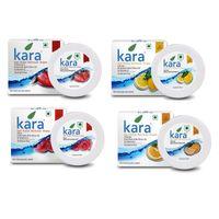 Kara Nail Polish Remover Super Saver Pack of 4 (Orange, Rose, Lemon & Strawberry)