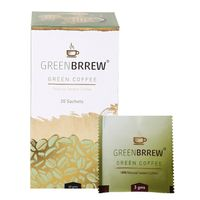 Greenbrrew Decaffeinated Natural Instant Green Coffee 20 Sachets