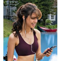 Enamor SB17 Low Impact Cotton Sports Bra - Non-Padded & Wirefree - Purple