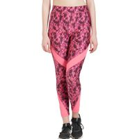 Tuna London Pink Polycotton Lycra Printed Slim Fit Track Pant For Women