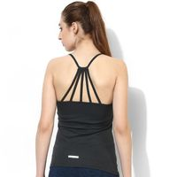 Silvertraq Women's Strappy Back Tank Top Dark Grey