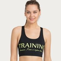 Zivame Zelocity Neo Play Low Impact Sports Bra - Black & Green