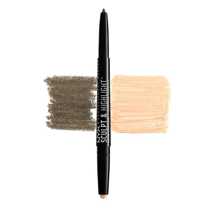 NYX Professional Makeup Sculpt & Highlight Brow Contour - Brunette/Cream