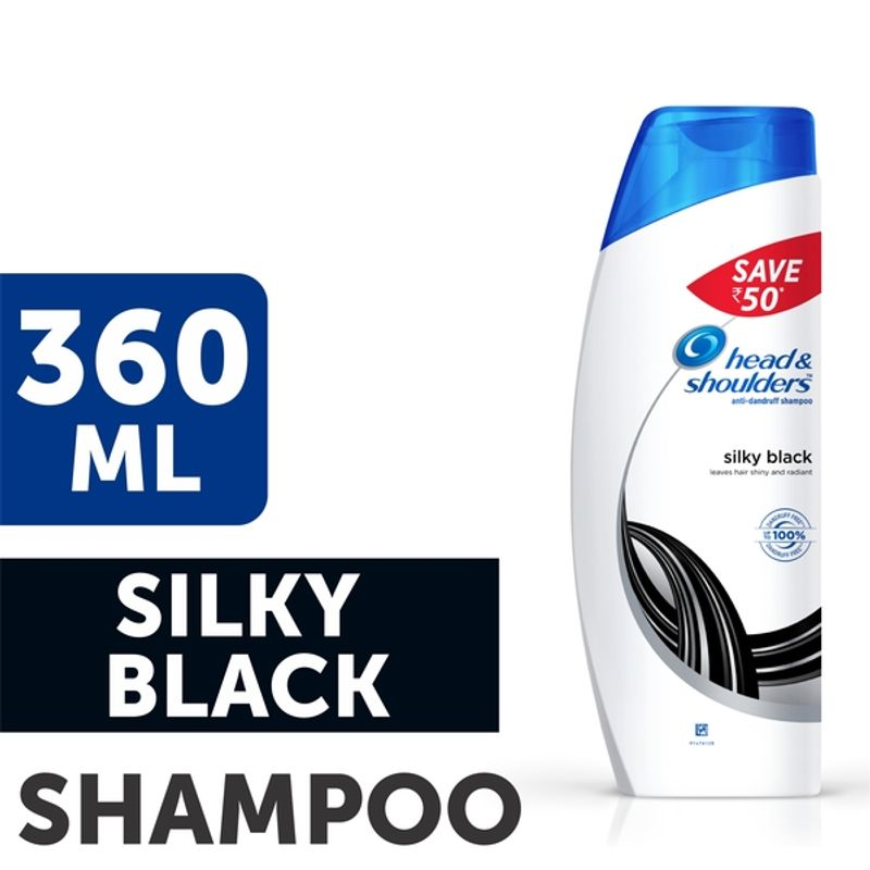 Head & Shoulders Silky Black Anti Dandruff Shampoo Save Rs.50