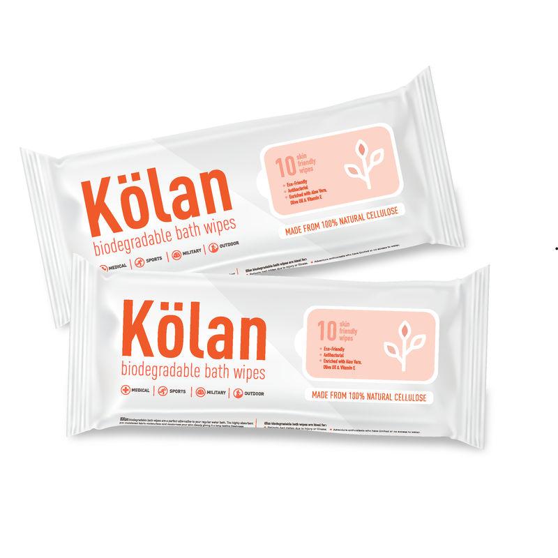 Kolan Eco-Friendly Biodegradable Bed Bath Wipes (Pack Of 2)