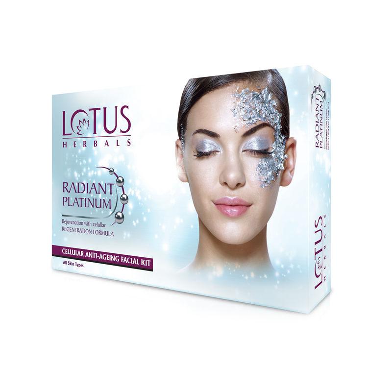 Lotus Herbals Radiant Platinum Cellular Anti-Ageing 1 Facial Kit