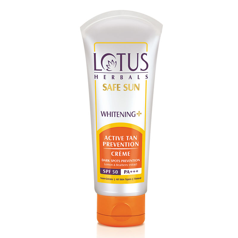 Lotus Herbals Safe Sun Whitening + Active Tan Prevention Creme SPF-50 PA+++
