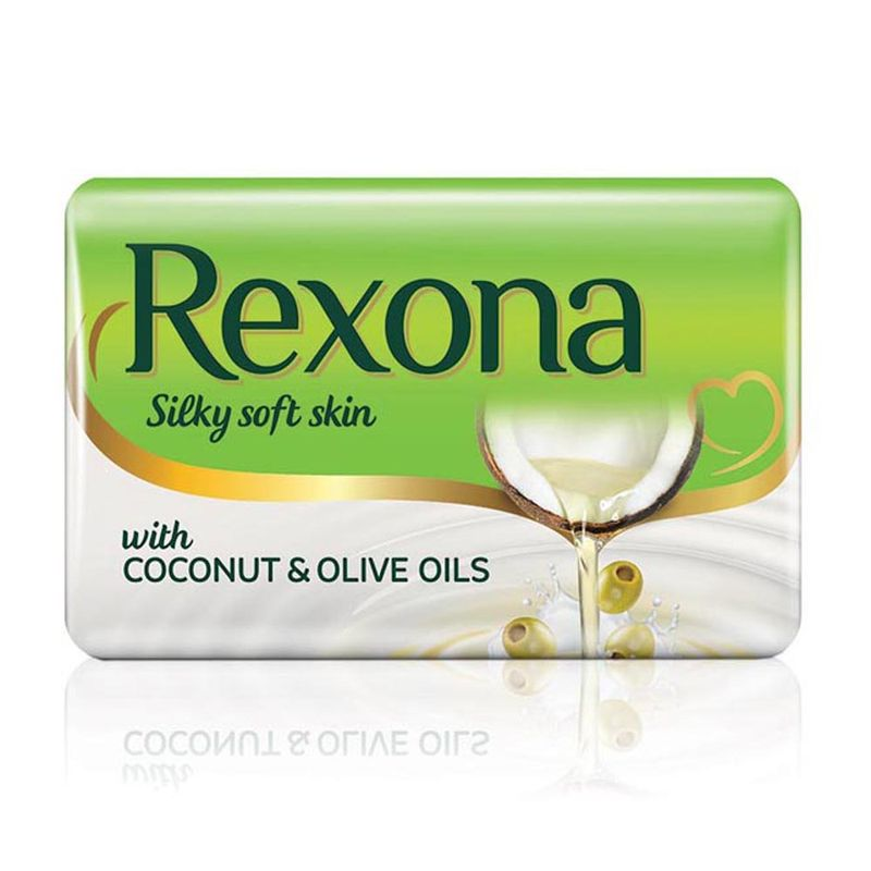 Rexona Silky Soft Skin Coconut & Olive Oil Soap Bar Pack Of 4 - 8901030655807