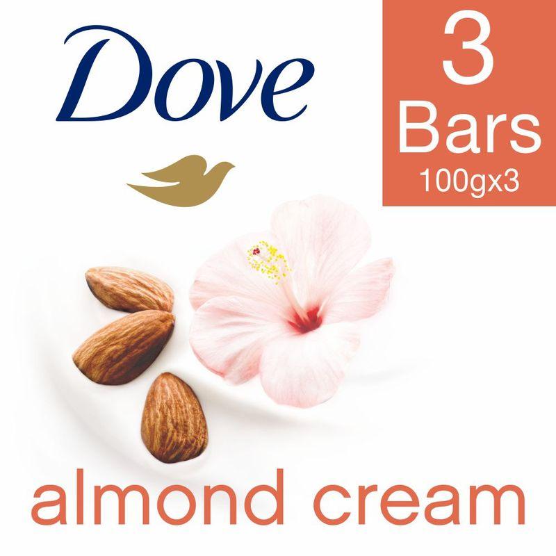 Dove Almond Cream Beauty Bathing Bar Buy 3 Get 1 Free