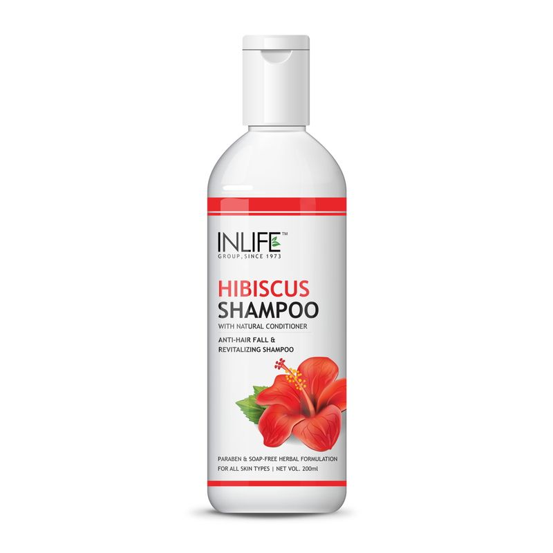 INLIFE Natural Hibiscus Anti Hair Fall Shampoo 200ml Soap Paraben Free