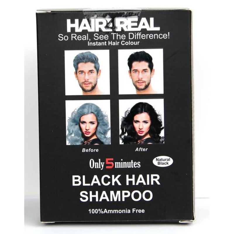 Hair4Real Natural Black Hair Shampoo(Pack Of 12 Sachet)