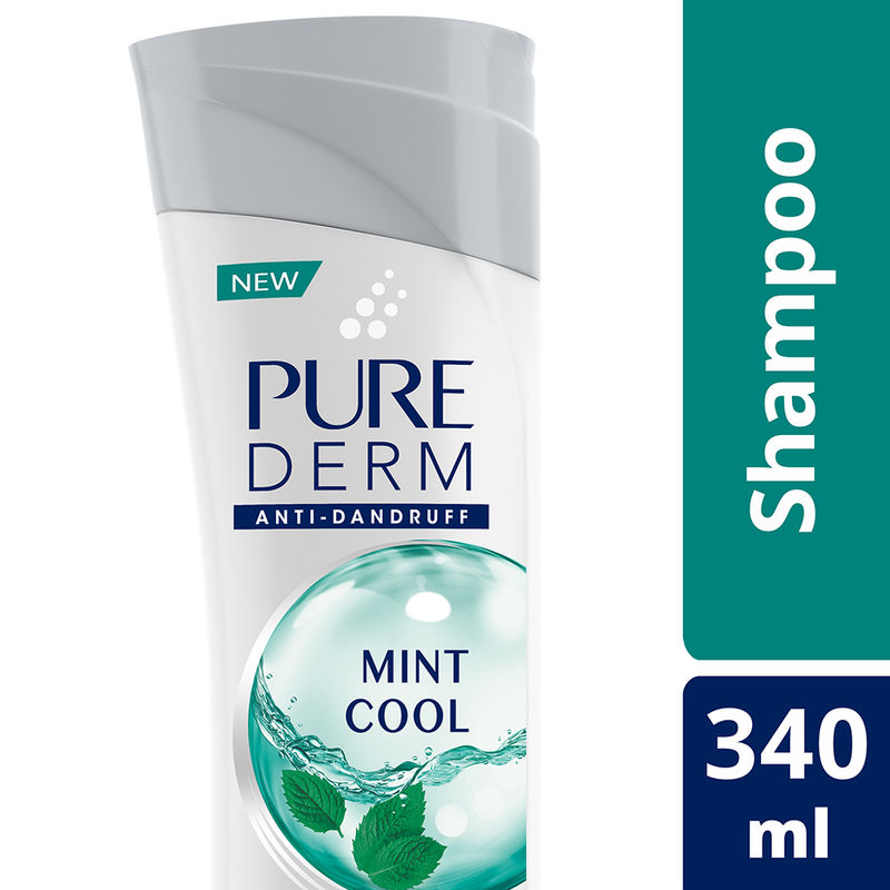 Pure Derm Mint Cool Anti - Dandruff Shampoo - 8901030684050