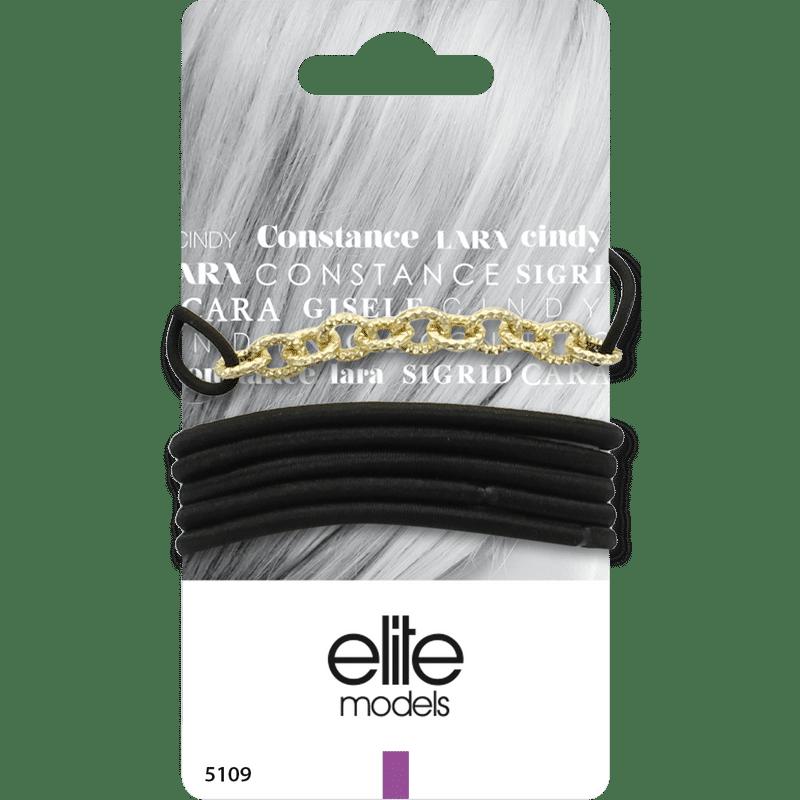 Elite Models (France) Fashion Ponytail Hair Rubber Bands (6 Pc Set) - Gold