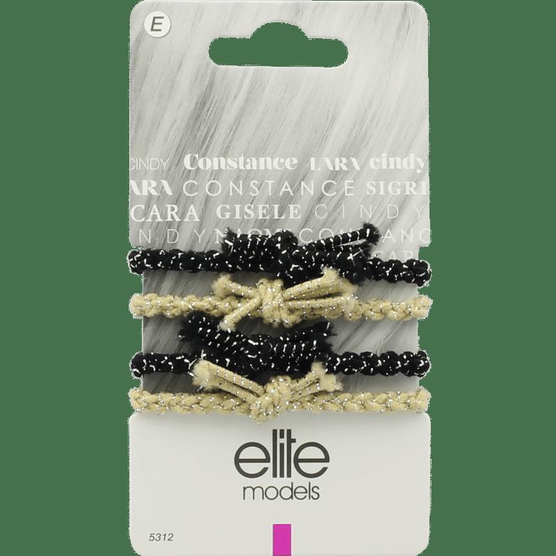 Elite Models (France) Fashion Ponytail Hair Rubber Bands (4 Pc Set) - Multi