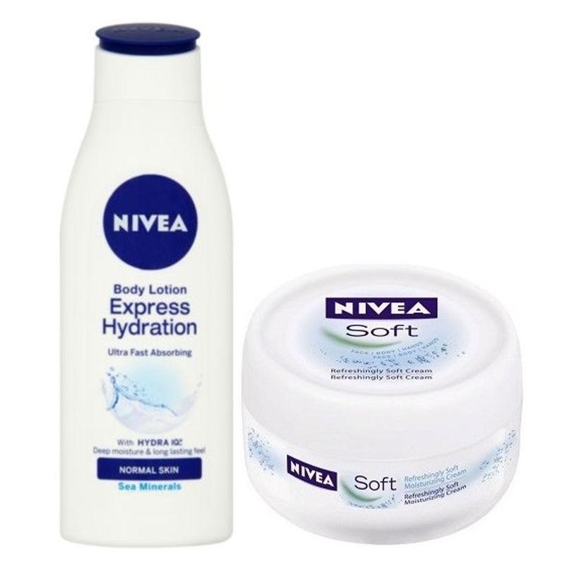 Nivea Express Hydration Body Lotion + Free Soft Cream