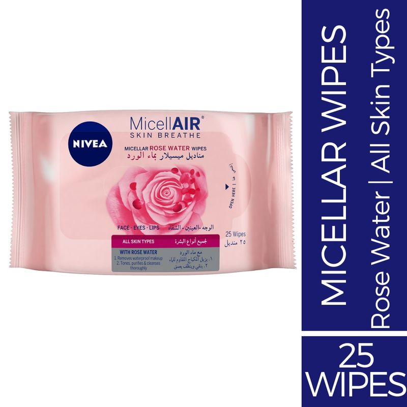 91f6fe947a28 Nivea Skin Breathe Micellar Rose Water Wipes at Nykaa.com