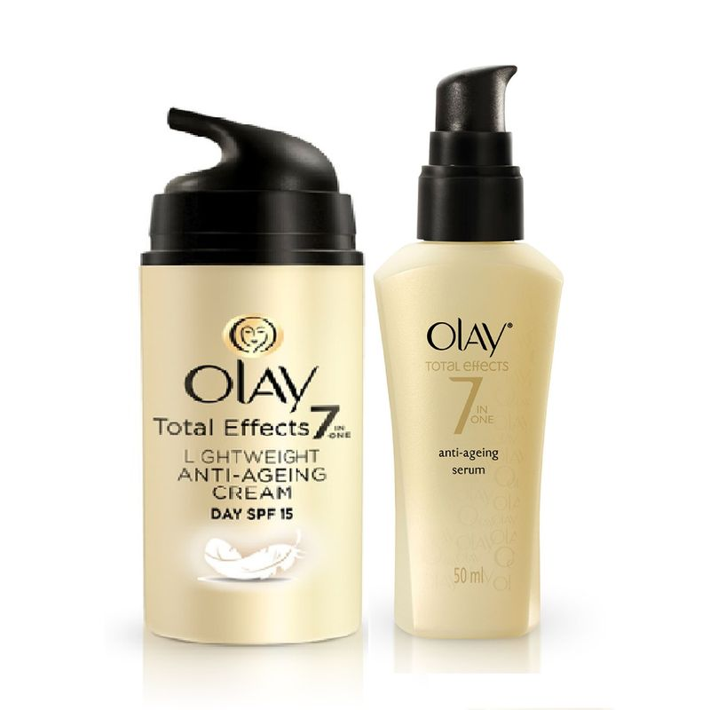 Olay Total Effects Light Weight SPF 15 Day Cream Serum Regime I