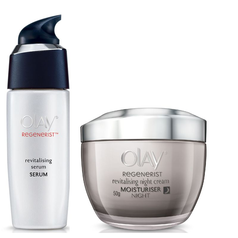 Olay Regenerist Revitalizing Night Cream Revitalizing Serum Regime