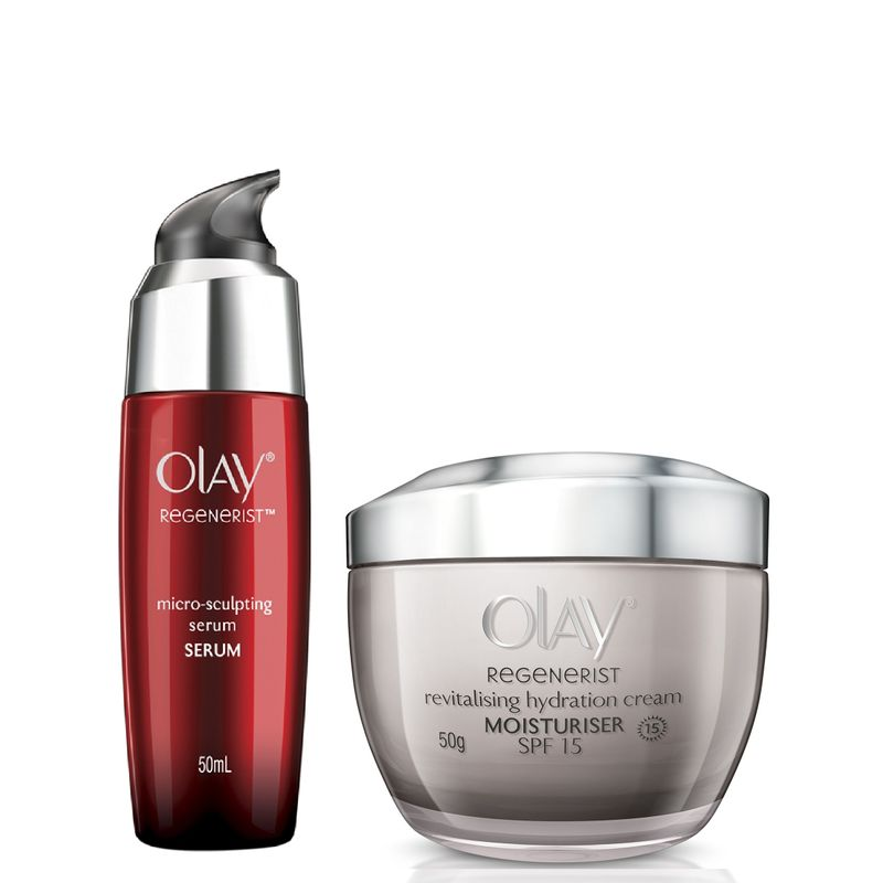 Olay Regenerist Revitalising SPF15 Day Cream Micro-Sculpting Serum Regime