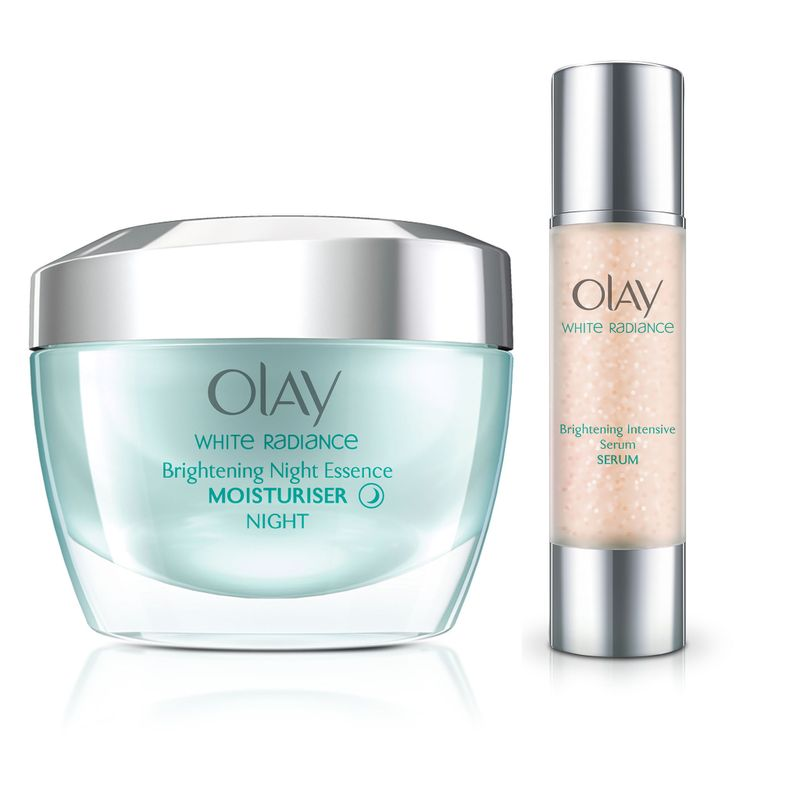 Olay White Radiance Night Essence Cream Serum Regime