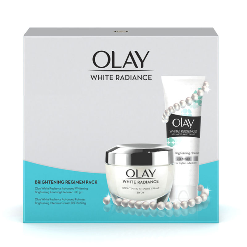 Olay Face Cream - Buy Olay White Radiance Advanced Whitening Fairness Protective Cream 50g + Foaming Cleanser 100g Combo Online in India   Nykaa