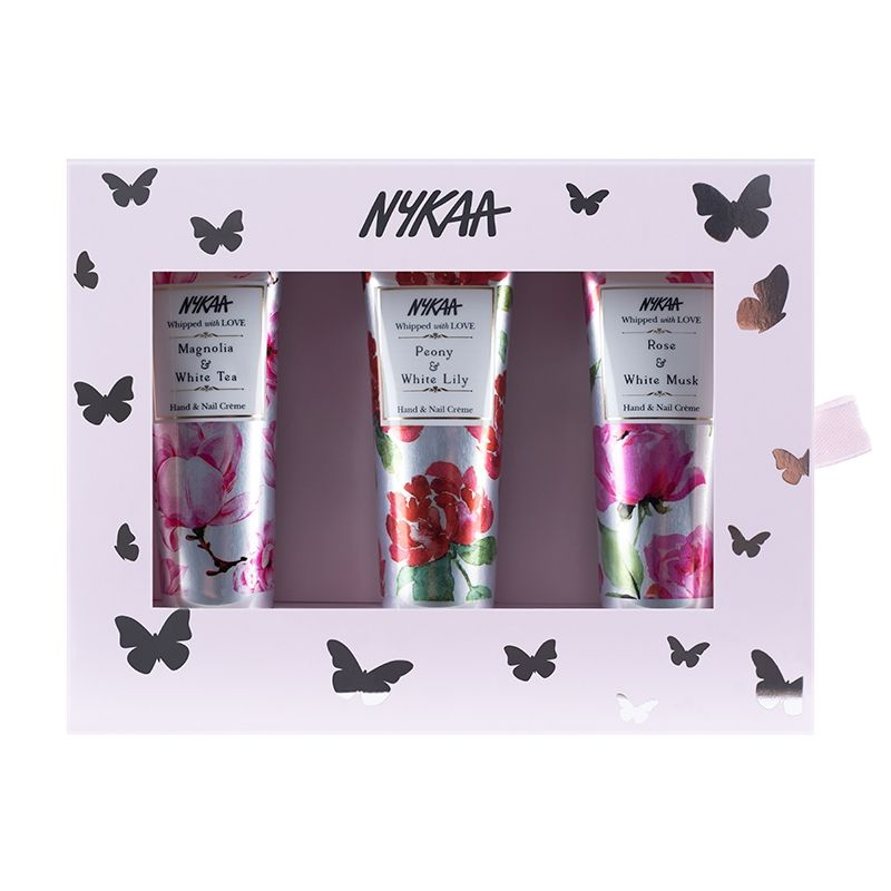 Nykaa Floral Nectar Hand & Nail Creme Gift Set (Pack Of 3)