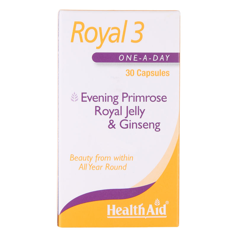 HealthAid Royal 3 Evening Primrose, Royal Jelly & Ginseng Capsules