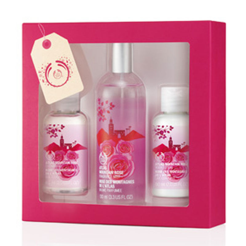 The Body Shop Atlas Mountain Rose Shower, Soften & Spritz Collection