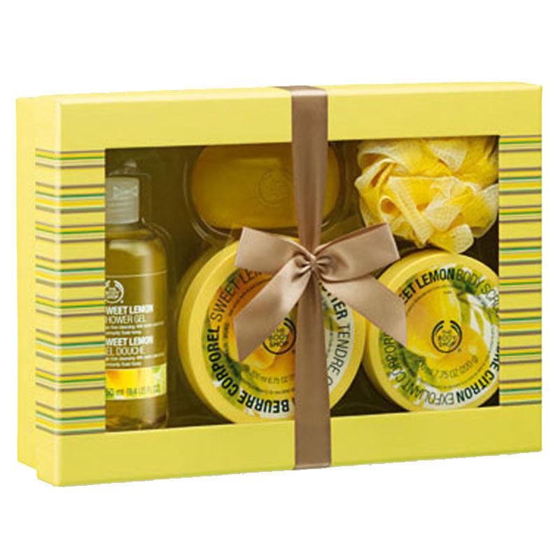The Body Shop Lemon Shower, Scrub And Soften Medium Gift Box