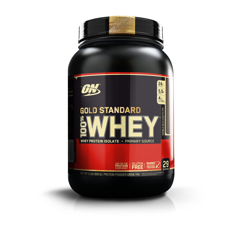 e26093a83 Optimum Nutrition (ON) Gold Standard 100% Whey Protein Double Rich  Chocolate Powder 2lbs(2 lbs)