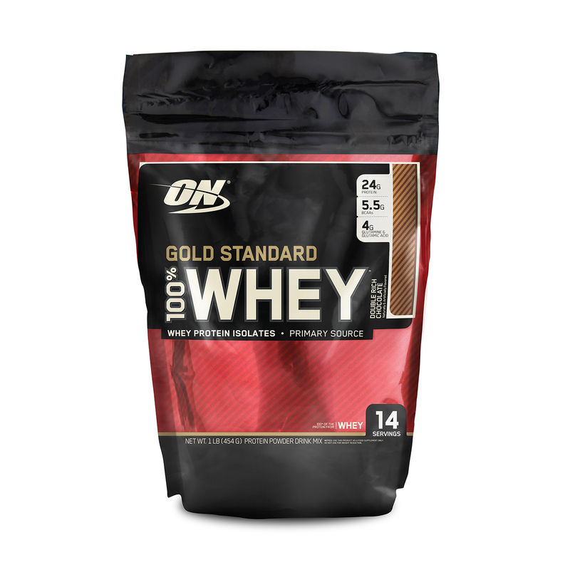 Optimum Nutrition (ON) 100% Whey Gold Standard - 1 Lb (Double Rich Chocolate)