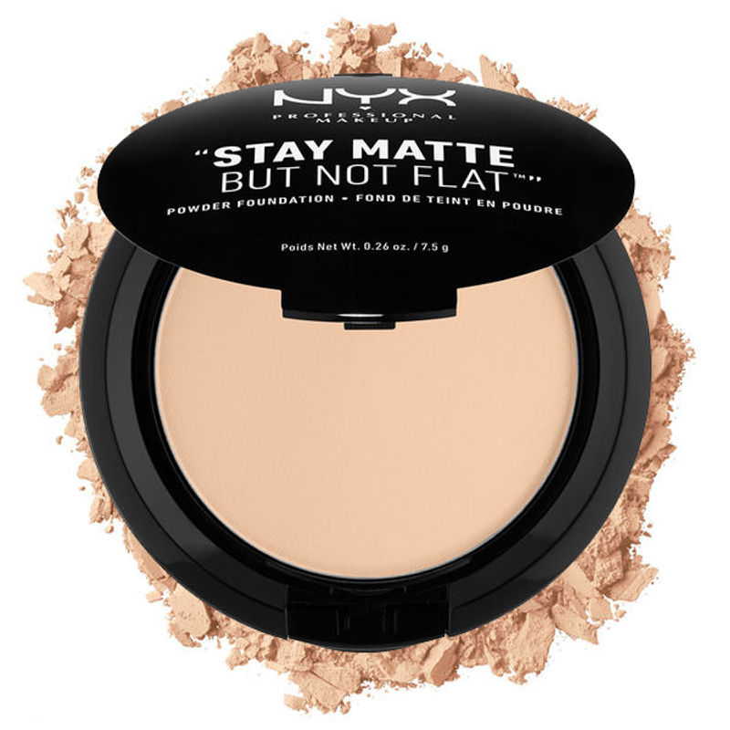 NYX Professional Makeup Stay Matte But Not Flat Powder Foundation - Nude Beige