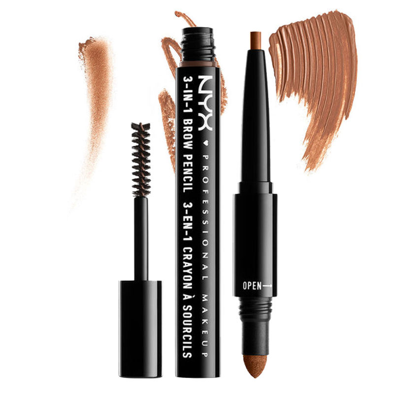 NYX Professional Makeup 3-In-1 Brow Pencil - Auburn